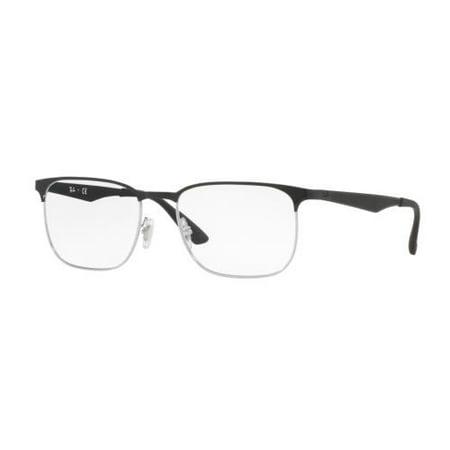 268bea66af RAY BAN Eyeglasses RX6363 2861 Silver Top On Black 54MM - Walmart.com