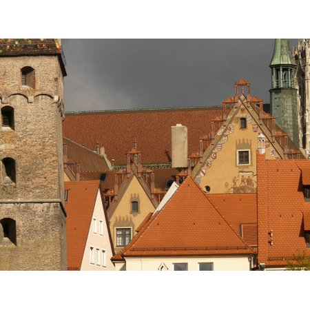 Canvas Print Homes Old Town Gable Roofs ULM Facades Stretched Canvas 10 x 14