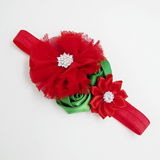 Christmas Headband For Baby Girl.Kids Elastic Floral Christmas Headband Hair Girls Baby Princess Hairband