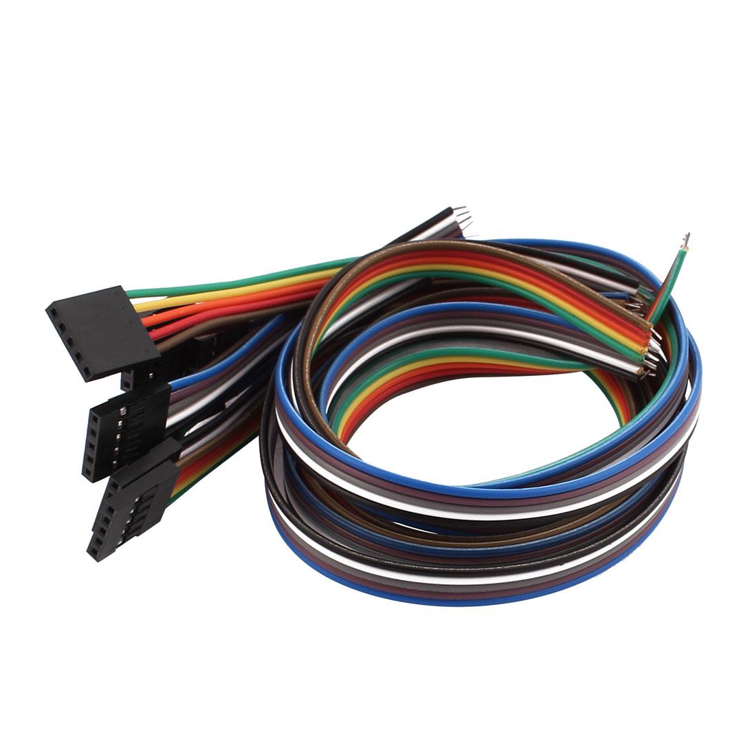 10 Pcs Female 5P Jumper Wires Ribbon Cables Pi Pic Breadboard DIY 30cm Long