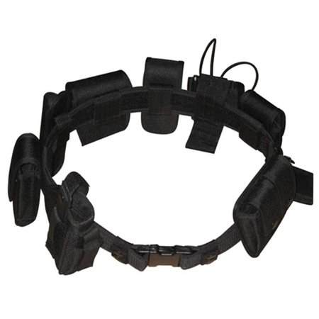 Black Law Enforcement Modular Equipment System Security Military Tactical Duty Utility Belt Black 10 in 1, adjustable 35-50