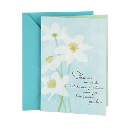 White Sympathy Note (Hallmark Sympathy Greeting Card (White Flowers) )