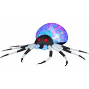 3 projection airblown inflatables kaleidoscope blackwhite spider halloween decoration