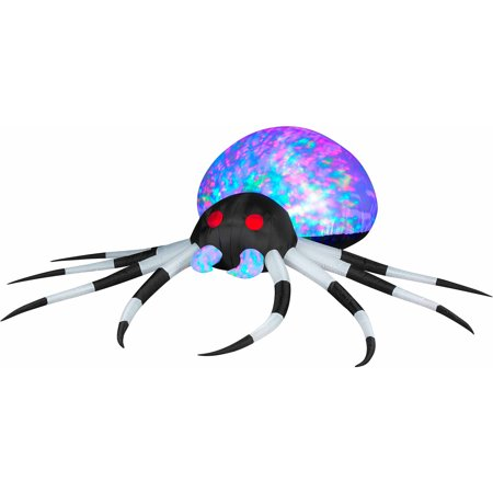 3' Projection Blowups Inflatables Kaleidoscope Black/White Spider Halloween Decoration