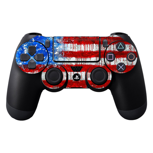 MightySkins Protective Vinyl Skin Decal for Sony PlayStation DualShock PS4 Controller Case wrap cover sticker skins Colors Dont Run