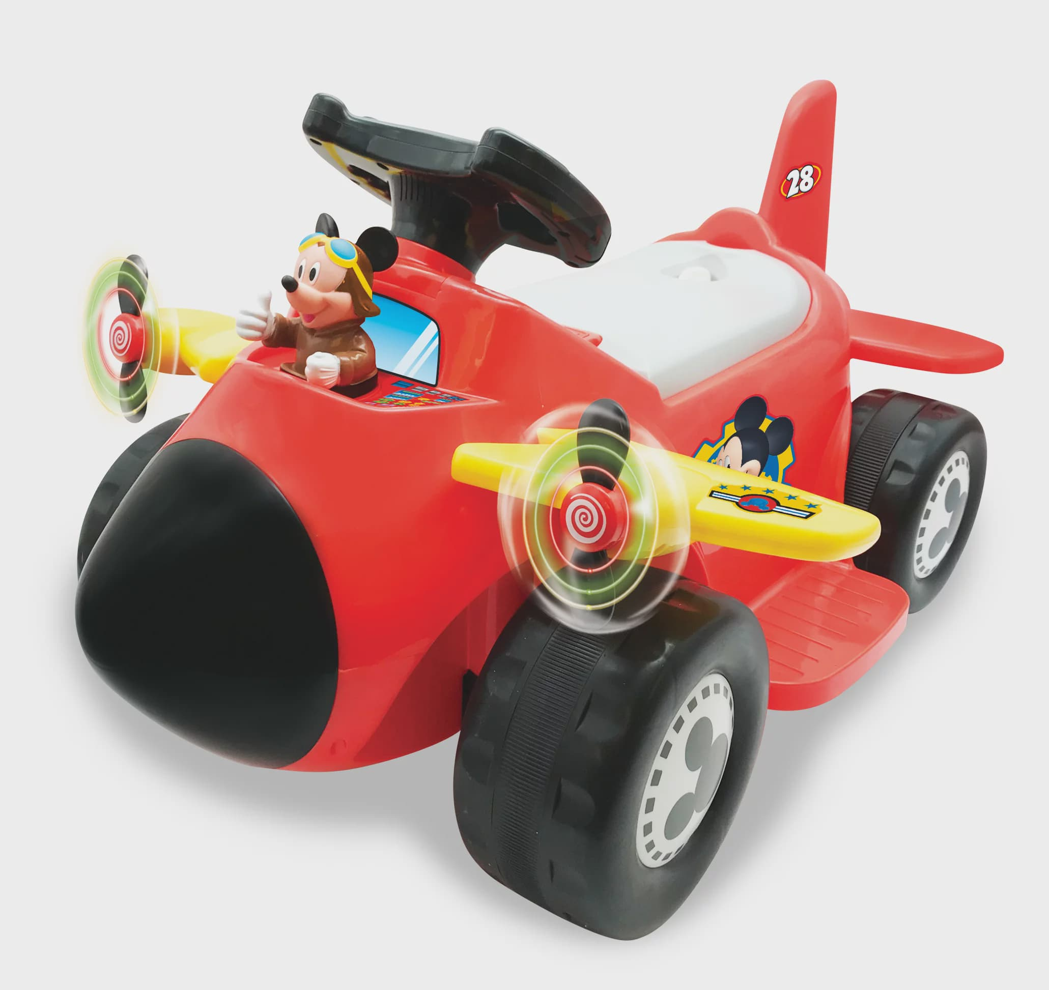 Disney Mickey Mouse 6-Volt Powered Acivity Plane Ride-On