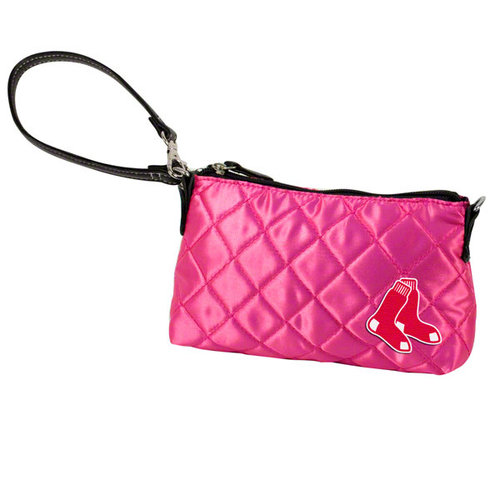 MLB - Boston Red Sox Pink Quilted Wristlet