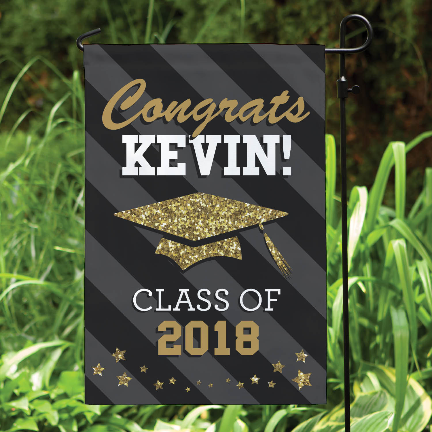 Personalized Happy Graduation Garden Flag