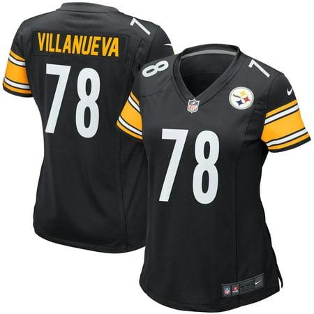detailed look b131f b5884 Alejandro Villanueva Pittsburgh Steelers Nike Women's Game Jersey - Black