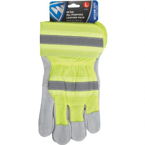 West Chester Protective Gear Leather High Visibility Work Glove