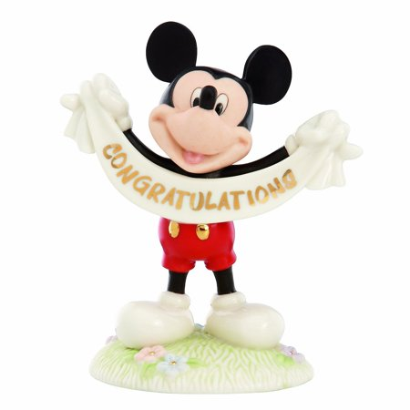 Lenox Mickeys Congratulations Figurine Disney Congratulations Figurine