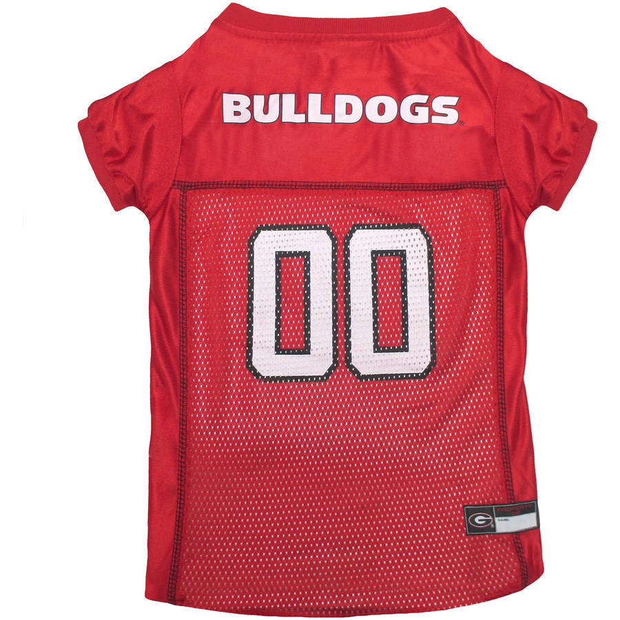 Pets First College Georgia Bulldogs Collegiate Dog Jersey, Available in Various Sizes