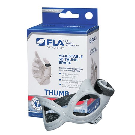 Brace Top (FLA Orthopedics 3D Adjustable Left Thumb Brace Mediem, 1 Ea)