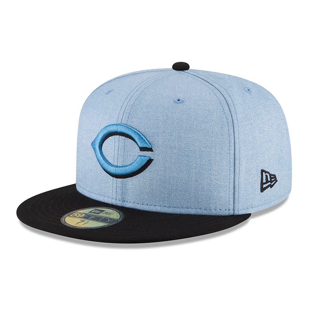 Cincinnati Reds New Era 2018 Father's Day On Field 59FIFTY Fitted Hat - Light Blue