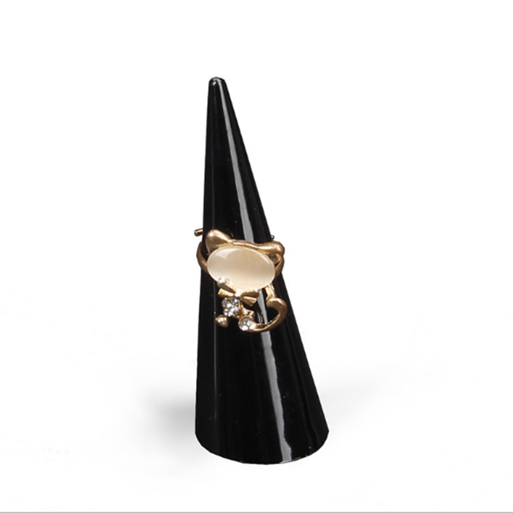 Exhibition Stand Organizer : Muse wanna cone finger ring stand jewelry display holder black