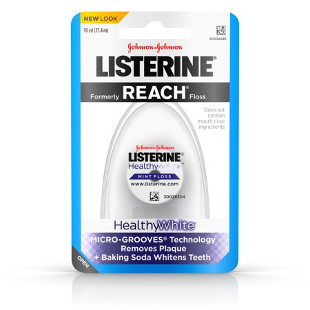 Listerine Healthy White  Interdental Floss  Oral Care And Hygiene  Mint  30 Yards