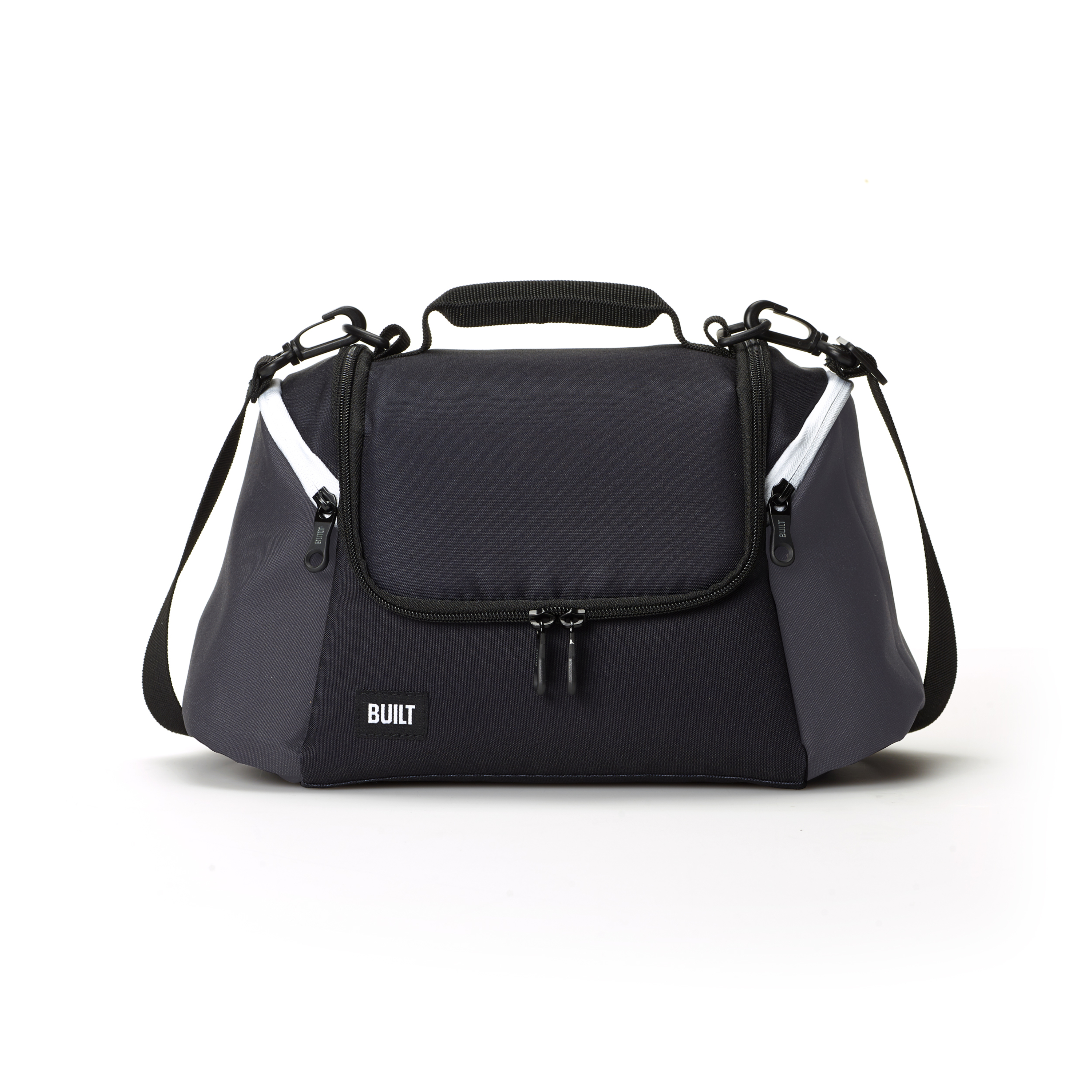 Built NY All-day Insulated Black And Grey Lunch Bag