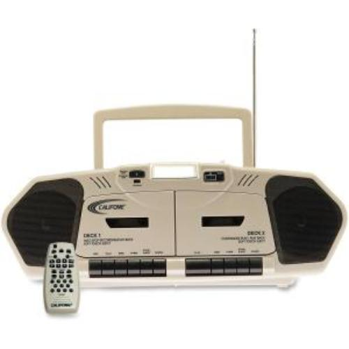Califone International, Inc 2395AV-02 Califone 6w Dual Cassette/cd Via Ergoguys - Lcd - 20 Programable Tracks - Cd-da - 108mhz, 1710khz