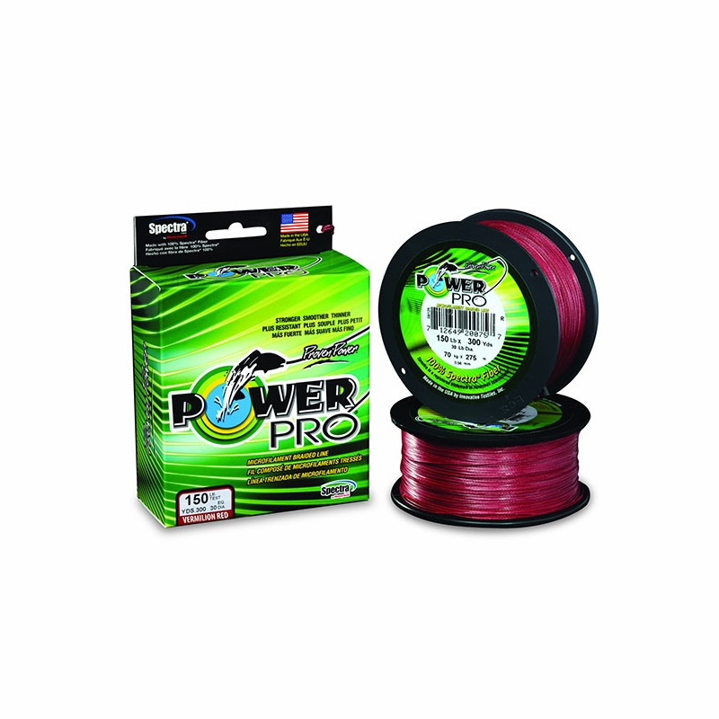 Power Pro USA Spectra Braid Fishing Line 15lb 500yd Yard 7kg 455m RED 15-500v by Power Pro
