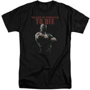 Dark Knight Rises Permission To Die Mens Big and Tall Shirt