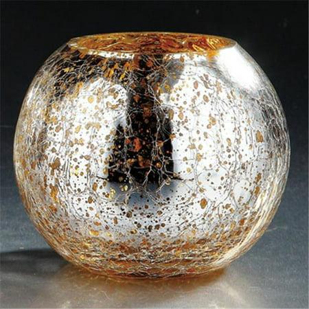 Diamond Star 57088 4 5 X 6 In  Glass Vase  44  Silver