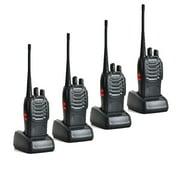 Zimtown LOT4 BaoFeng BF-888S UHF 2-way radio Handheld Walkie Talkie Black