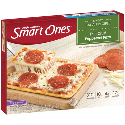 Weight Watchers Smart Ones Savory Italian Recipes Thin Crust Pepperoni Pizza, 4.4 oz