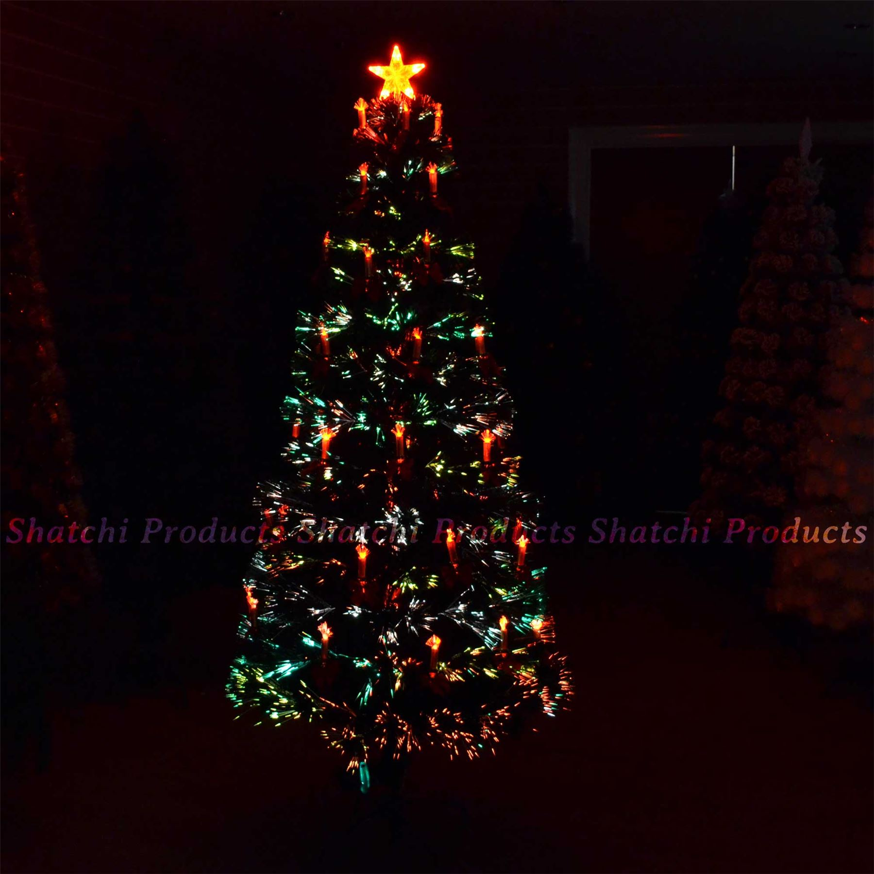 Artificial Frosted Pre Lit Christmas Trees