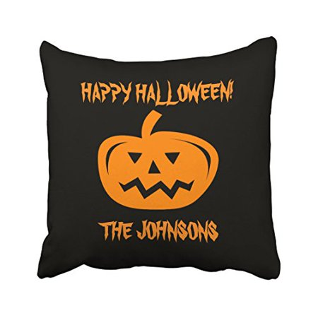Throw A Halloween Party (WinHome Vintage Popular Happy Halloween Pumpkin Party Customizable Polyester 18 x 18 Inch Square Throw Pillow Covers With Hidden Zipper Home Sofa Cushion Decorative)