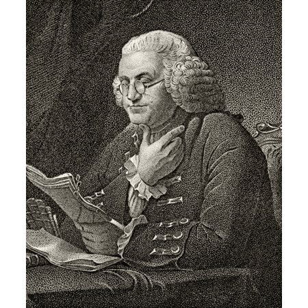 Benjamin Franklin 1706 To 1790 American Statesman And Founding Father A Signatory Of Declaration Of Independence 19Th Century Engraving By JB Longacre From A Painting By Martin Stretched Canvas - Ken