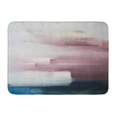 JSDART Pink Oil Modern Abstract Painting Blue Paint Nature Elegant Landscape Doormat Floor Rug Bath Mat 23.6x15.7 inch - image 1 of 1