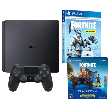 bea2a4390db Playstation 4 Battle Royale Fortnite Frostbite and Royale Bomber Skin Bundle   1500 V-Bucks