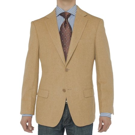 LN LUCIANO NATAZZI Men's Luxurious Camel Hair Blazer Modern Fit Suit Jacket (New Camel Hair Sports Coat)
