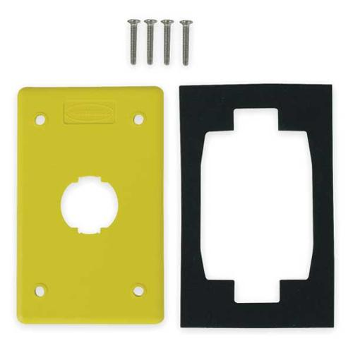 HUBBELL PREMISE WIRING HI114PY Wall Plate, 1port, 1gang