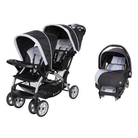 Baby Trend Sit N Stand Tandem Stroller + Infant Car Seat Travel System,