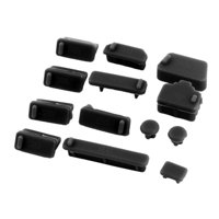 Port Dust Stopper Cover Laptop Anti Dust Plug Set Black 13 in 1 for PC Computer