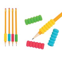 8Pc Groovy Foam Pencil Grips Pen Comfort Soft Sponge Children School Handwriting