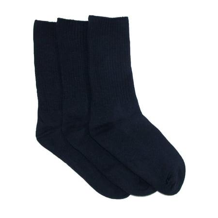 0271a2b74b Jefferies Socks - Kids' Cotton Seamless Toe Casual Crew Sock (Pack of 3) -  Walmart.com