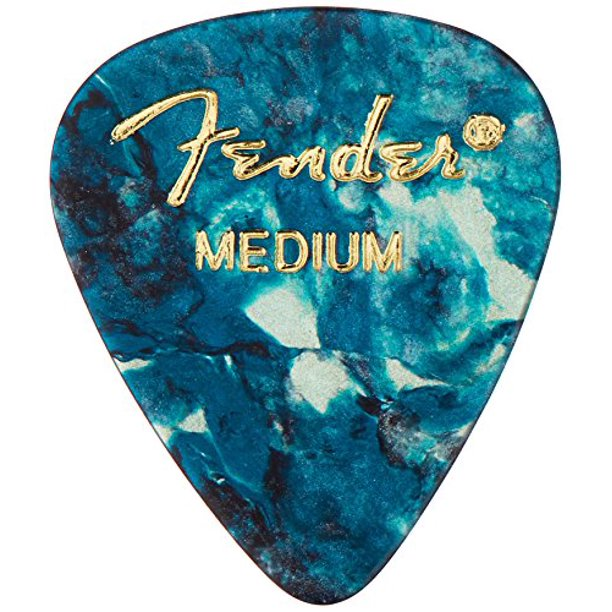 Fender 351 Shape Classic Medium Celluloid Picks, 12 Pack