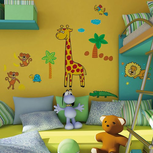 Brewster Home Fashions Euro Giraffe Wall Decal
