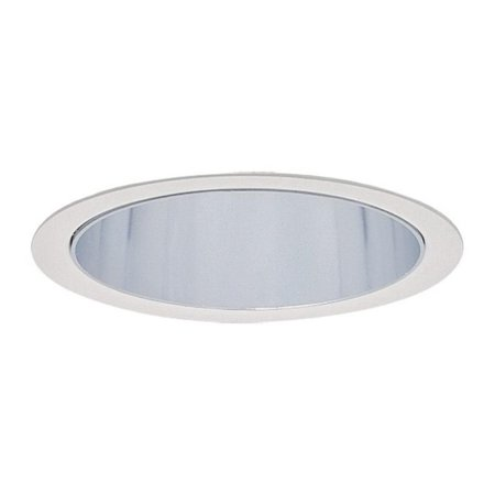 Lightolier 1113 6-3/4 Inch Down Light Cone Reflector Trim Round Specular Clear Lytecaster