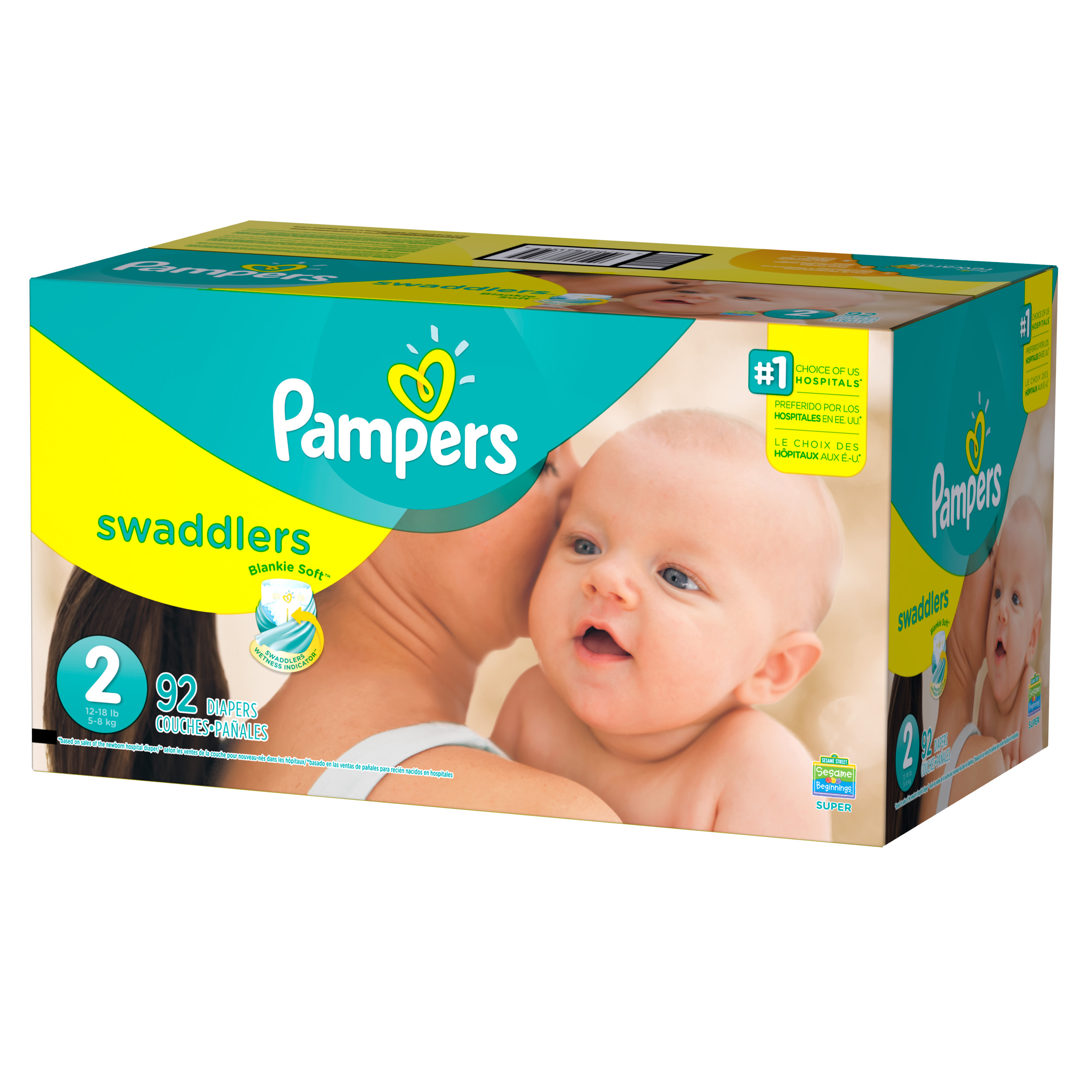 Pampers Swaddlers Diapers Size 2 92 count