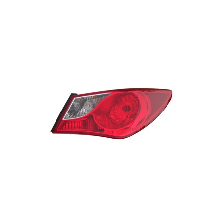 Tail Light Assembly - DEPO For/Fit 924023Q000 11-14 Hyundai Sonata - (Outer On Quarter Panel) Bulb-Type (Right Hand - Passenger)