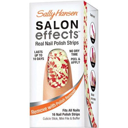 Coty Sally Hansen Salon Effects Real Nail Polish Strips, 1 ea (Halloween Nail Strips)