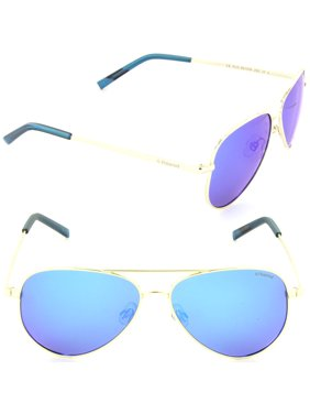 Polaroid PLD 8015/N J5G-JY Aviator Sunglasses Gold/Grey Blue Mirror Polarized Lens