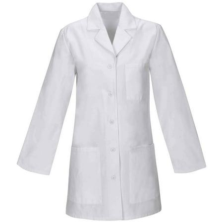 Panda Uniform Made To Order 32-Inch Women's Professional Look Five Button Short Lab Coat (Pretty Green Velvet Pea Coat)