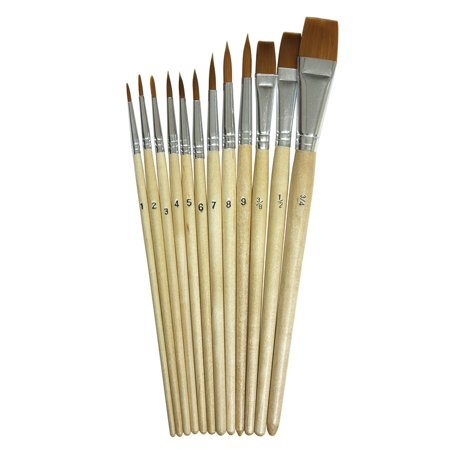 WATERCOLOR BRUSHES 12PK ASSORTED SIZES](Watercolor Brushes)