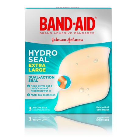 Band-Aid Brand Hydro Seal Extra Large Adhesive Bandages, 3 ct