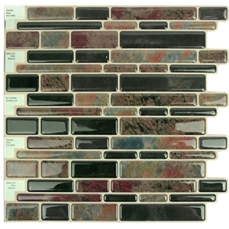 Crystiles Peel and Stick SelfAdhesive DIY Backsplash Stickon Vinyl Wall Tiles for Kitchen and Bathroom Dcor Projects, Item 910 (Sticky Wall)