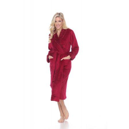 9e7acc6f6f3d White Mark - White Mark Super Soft Relaxed Fit Lounge Robe For Women -  Walmart.com